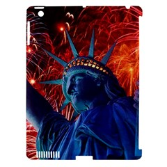Statue Of Liberty Fireworks At Night United States Of America Apple Ipad 3/4 Hardshell Case (compatible With Smart Cover)