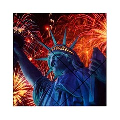 Statue Of Liberty Fireworks At Night United States Of America Acrylic Tangram Puzzle (6  X 6 )