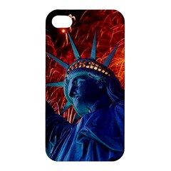 Statue Of Liberty Fireworks At Night United States Of America Apple Iphone 4/4s Premium Hardshell Case