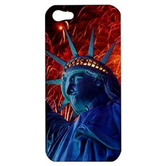 Statue Of Liberty Fireworks At Night United States Of America Apple Iphone 5 Hardshell Case