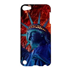Statue Of Liberty Fireworks At Night United States Of America Apple Ipod Touch 5 Hardshell Case