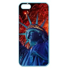 Statue Of Liberty Fireworks At Night United States Of America Apple Seamless Iphone 5 Case (color)