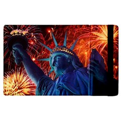 Statue Of Liberty Fireworks At Night United States Of America Apple Ipad 2 Flip Case