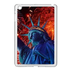 Statue Of Liberty Fireworks At Night United States Of America Apple Ipad Mini Case (white)