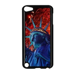Statue Of Liberty Fireworks At Night United States Of America Apple Ipod Touch 5 Case (black)