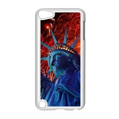 Statue Of Liberty Fireworks At Night United States Of America Apple Ipod Touch 5 Case (white)