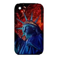 Statue Of Liberty Fireworks At Night United States Of America Iphone 3s/3gs