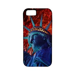 Statue Of Liberty Fireworks At Night United States Of America Apple Iphone 5 Classic Hardshell Case (pc+silicone)