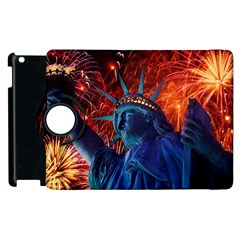 Statue Of Liberty Fireworks At Night United States Of America Apple Ipad 2 Flip 360 Case