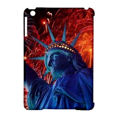 Statue Of Liberty Fireworks At Night United States Of America Apple Ipad Mini Hardshell Case (compatible With Smart Cover)