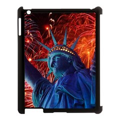 Statue Of Liberty Fireworks At Night United States Of America Apple Ipad 3/4 Case (black)