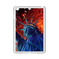 Statue Of Liberty Fireworks At Night United States Of America Ipad Mini 2 Enamel Coated Cases