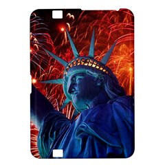Statue Of Liberty Fireworks At Night United States Of America Kindle Fire Hd 8 9