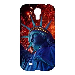 Statue Of Liberty Fireworks At Night United States Of America Samsung Galaxy S4 I9500/i9505 Hardshell Case