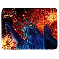 Statue Of Liberty Fireworks At Night United States Of America Samsung Galaxy Tab 7  P1000 Flip Case