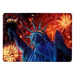 Statue Of Liberty Fireworks At Night United States Of America Samsung Galaxy Tab 10 1  P7500 Flip Case