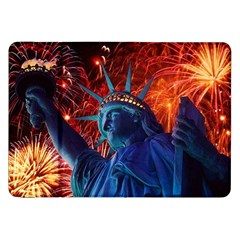 Statue Of Liberty Fireworks At Night United States Of America Samsung Galaxy Tab 8 9  P7300 Flip Case