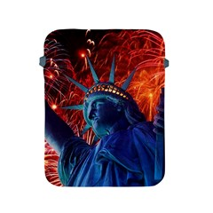 Statue Of Liberty Fireworks At Night United States Of America Apple Ipad 2/3/4 Protective Soft Cases