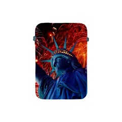 Statue Of Liberty Fireworks At Night United States Of America Apple Ipad Mini Protective Soft Cases