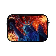 Statue Of Liberty Fireworks At Night United States Of America Apple Ipad Mini Zipper Cases