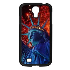 Statue Of Liberty Fireworks At Night United States Of America Samsung Galaxy S4 I9500/ I9505 Case (black)