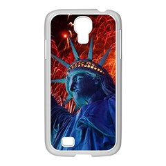Statue Of Liberty Fireworks At Night United States Of America Samsung Galaxy S4 I9500/ I9505 Case (white)