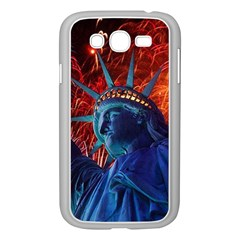 Statue Of Liberty Fireworks At Night United States Of America Samsung Galaxy Grand Duos I9082 Case (white)