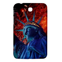 Statue Of Liberty Fireworks At Night United States Of America Samsung Galaxy Tab 3 (7 ) P3200 Hardshell Case