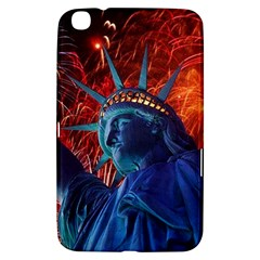 Statue Of Liberty Fireworks At Night United States Of America Samsung Galaxy Tab 3 (8 ) T3100 Hardshell Case
