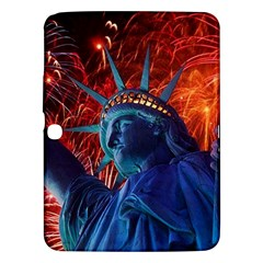 Statue Of Liberty Fireworks At Night United States Of America Samsung Galaxy Tab 3 (10 1 ) P5200 Hardshell Case