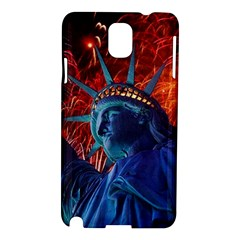 Statue Of Liberty Fireworks At Night United States Of America Samsung Galaxy Note 3 N9005 Hardshell Case
