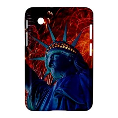 Statue Of Liberty Fireworks At Night United States Of America Samsung Galaxy Tab 2 (7 ) P3100 Hardshell Case