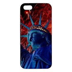 Statue Of Liberty Fireworks At Night United States Of America Iphone 5s/ Se Premium Hardshell Case
