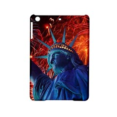 Statue Of Liberty Fireworks At Night United States Of America Ipad Mini 2 Hardshell Cases