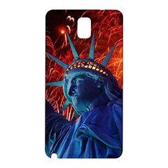 Statue Of Liberty Fireworks At Night United States Of America Samsung Galaxy Note 3 N9005 Hardshell Back Case