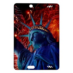 Statue Of Liberty Fireworks At Night United States Of America Amazon Kindle Fire Hd (2013) Hardshell Case