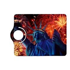Statue Of Liberty Fireworks At Night United States Of America Kindle Fire Hd (2013) Flip 360 Case