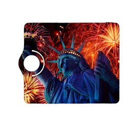 Statue Of Liberty Fireworks At Night United States Of America Kindle Fire Hdx 8 9  Flip 360 Case