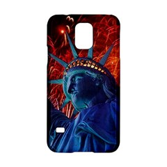 Statue Of Liberty Fireworks At Night United States Of America Samsung Galaxy S5 Hardshell Case