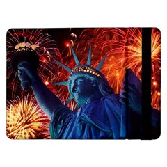 Statue Of Liberty Fireworks At Night United States Of America Samsung Galaxy Tab Pro 12 2  Flip Case