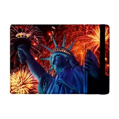 Statue Of Liberty Fireworks At Night United States Of America Ipad Mini 2 Flip Cases