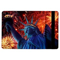 Statue Of Liberty Fireworks At Night United States Of America Ipad Air Flip
