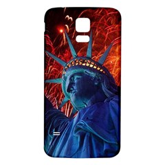 Statue Of Liberty Fireworks At Night United States Of America Samsung Galaxy S5 Back Case (white)