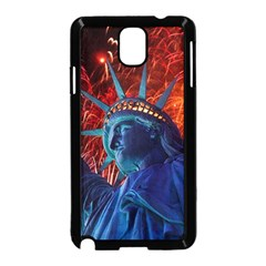 Statue Of Liberty Fireworks At Night United States Of America Samsung Galaxy Note 3 Neo Hardshell Case (black)