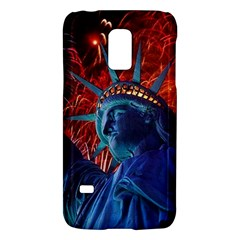 Statue Of Liberty Fireworks At Night United States Of America Galaxy S5 Mini