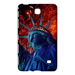Statue Of Liberty Fireworks At Night United States Of America Samsung Galaxy Tab 4 (8 ) Hardshell Case