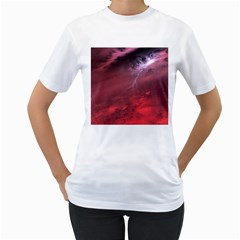 Storm Clouds And Rain Molten Iron May Be Common Occurrences Of Failed Stars Known As Brown Dwarfs Women s T Shirt (white) (two Sided)
