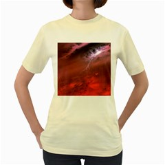 Storm Clouds And Rain Molten Iron May Be Common Occurrences Of Failed Stars Known As Brown Dwarfs Women s Yellow T Shirt