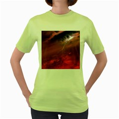 Storm Clouds And Rain Molten Iron May Be Common Occurrences Of Failed Stars Known As Brown Dwarfs Women s Green T Shirt