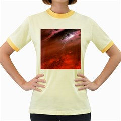 Storm Clouds And Rain Molten Iron May Be Common Occurrences Of Failed Stars Known As Brown Dwarfs Women s Fitted Ringer T Shirts